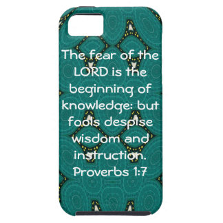 Bible Verses Wisdom Quote Saying Proverbs 1:7 iPhone 5 Case