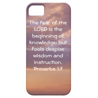 Bible Verses Wisdom Quote Saying Proverbs 1:7 iPhone 5 Cases