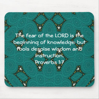 Bible Verses Wisdom Quote Saying Proverbs 1:7 Mouse Pad