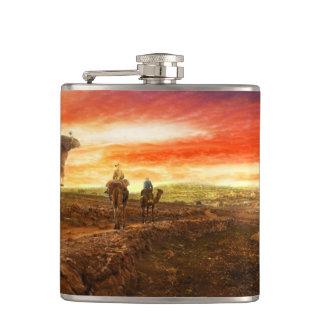 Bible - Wise men - The Magi arrive 1920 Flask