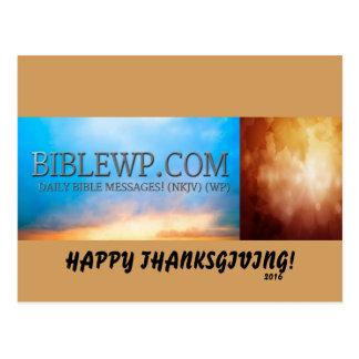 BIBLEWP.COM™ THANKSGIVING DAY CARDS POSTCARD