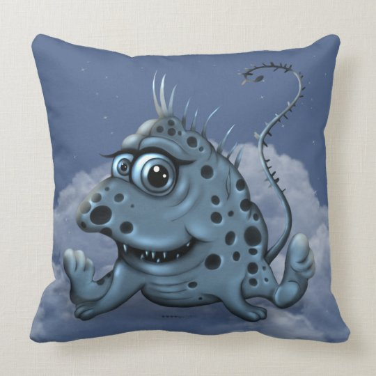 BIBLI CUTE MONSTER CARTOON THROW PILLOW 20 X 20