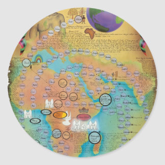 Biblical Genealogy Charts Round Sticker
