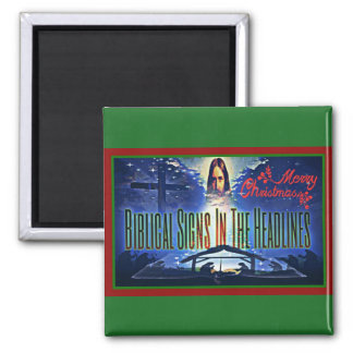 "Biblical Signs ""Merry Christmas"" Magnet"