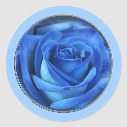Bibliecal Blue 1b on light blue Classic Round Sticker