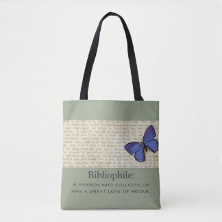 Bibliophile-Butterfly-Sophisticated-Handbag-Tote Tote Bag