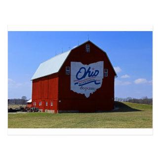 Bicentennial Barn Red Postcard