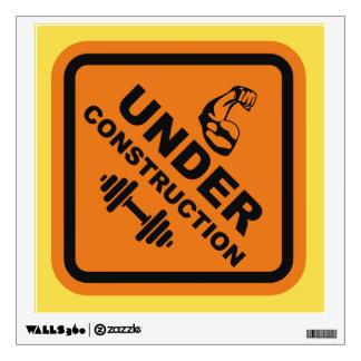 Bicep Building Zone Wall Sticker
