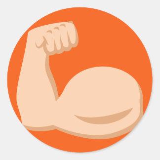 Biceps Emoji Round Sticker