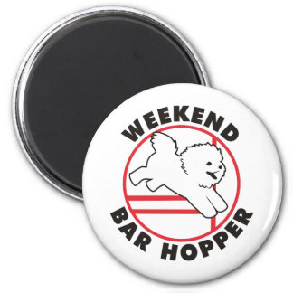 Bichon Agility Weekend Bar Hopper Magnet