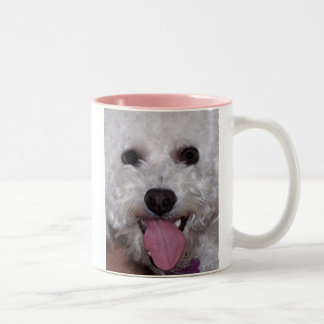 Bichon Face Two-Tone Coffee Mug