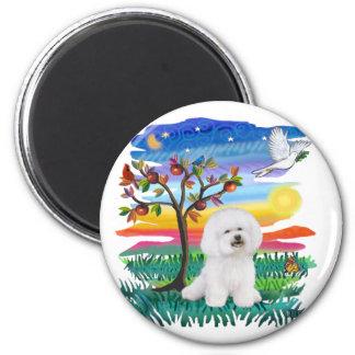 Bichon Frise 1 - Sun Glow 2 Inch Round Magnet
