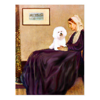 Bichon Frise 1 - Whistlers Mother Postcard