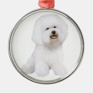 Bichon Frise (A) Silver-Colored Round Ornament