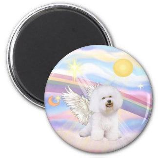 Bichon Frise Angel 2 Inch Round Magnet