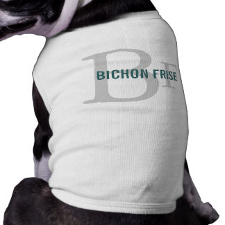 Bichon Frise Breed Monogram Design Pet Clothes