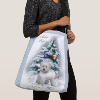 Bichon Frise Christmas Crossbody Bag