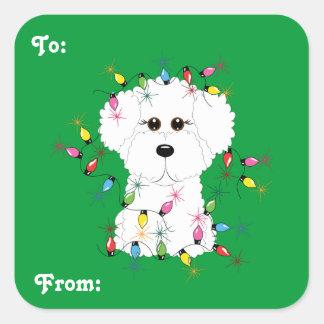 Bichon Frise Christmas Gift Stickers