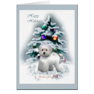 Bichon Frise Christmas Gifts Card