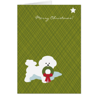 Bichon Frise Christmas Notecard