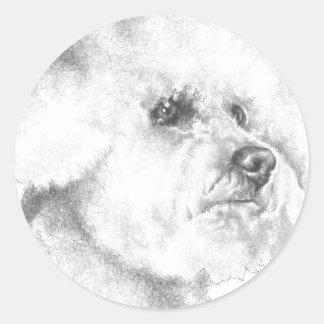 Bichon Frise Classic Round Sticker