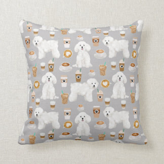 BIchon Frise Coffee Dog pillow
