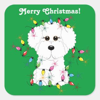 Bichon Frise Customizable Christmas Stickers