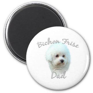 Bichon Frise Dad 2 2 Inch Round Magnet