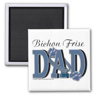 Bichon Frise DAD Square Magnet