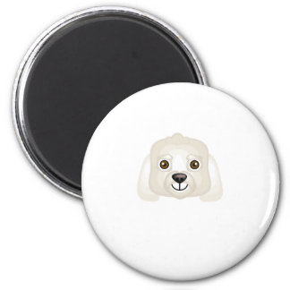 Bichon Frise Dog Breed - My Dog Oasis 2 Inch Round Magnet
