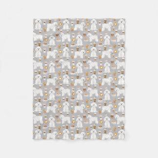 Bichon Frise Dog coffee blankets