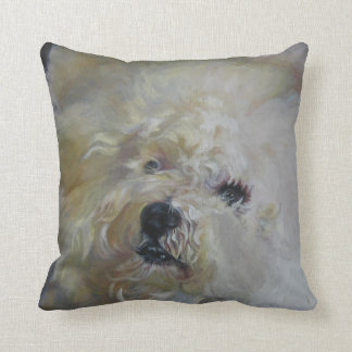 Bichon Frise Fine Art Painting Throw Pillow