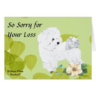 Bichon Frise, Green Leaves Card