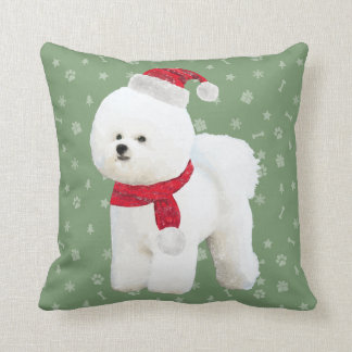 Bichon Frise Holiday Pillow