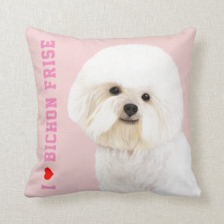 Bichon Frise Illustrated Pillow