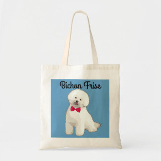 Bichon Frise Illustrated Tote Bag