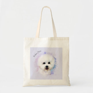 Bichon Frise Illustrated Tote Bag (7 colors)