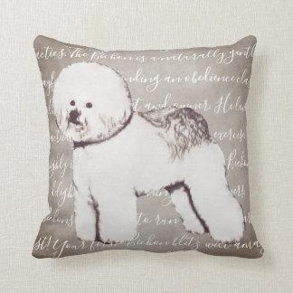 Bichon Frise Illustration Pillow