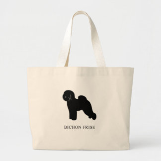 Bichon Frise Large Tote Bag