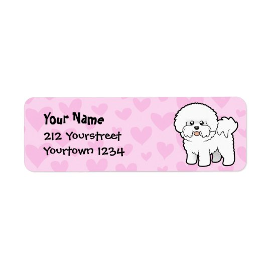Bichon Frise Love Return Address Label