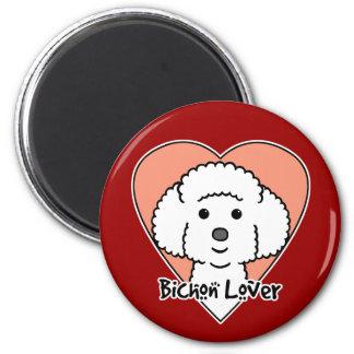 Bichon Frise Lover 2 Inch Round Magnet