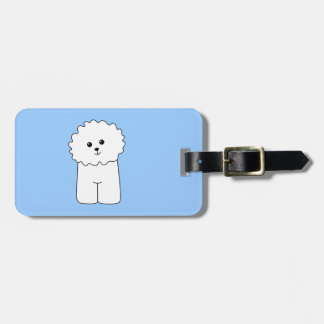 Bichon Frise. Luggage Tag