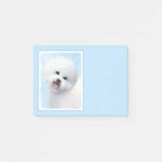 Bichon Frise Painting - Cute Original Dog Art Post-it Notes