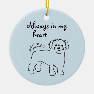 Bichon Frise Personalized Pet Memory Ceramic Ornament