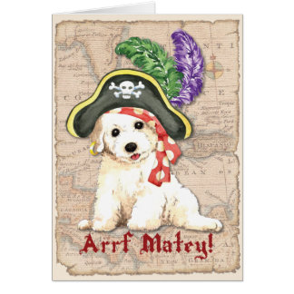 Bichon Frise Pirate Card