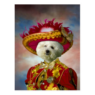 Bichon Frise Postcard Nobility Dogs Gifts