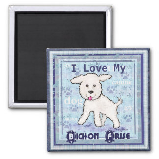 Bichon Frise Puppy Dog Art Magnet