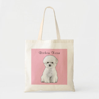 Bichon Frise Puppy Illustrated Tote Bag