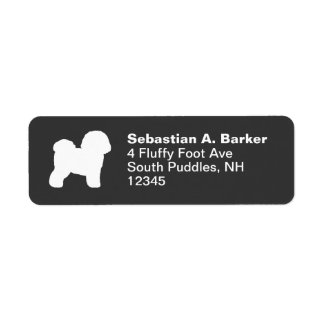 Bichon Frise Return Address Label