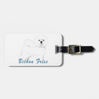 Bichon Frise - Select Your Color Luggage Tag